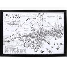 1722 Map of Boston, Massachusetts