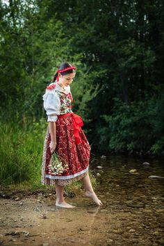 Krása a tradície #praveslovenske Ajka Petrasová z Folklórny súbor Vagonár Norse Pagan, Do Homework, Barefoot, Castles, Poland, Roots, Culture, Pictures, Photography