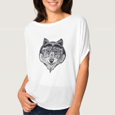 Shop Wolf: unique high quality artwork T-Shirt created by ArtRenate. Wolf Design, Unique, Artwork, T Shirt, Animals, Shopping, Tops, Women, Fashion