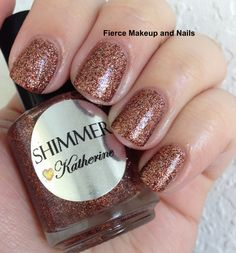 Fierce Makeup and Nails  Shimmer Polish Katherine