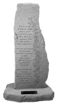 Garden Memorial Obelisk for Mother