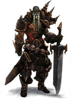 *Oddian Skullcarrier, human (maybe?), barbarian warlock. by lorena