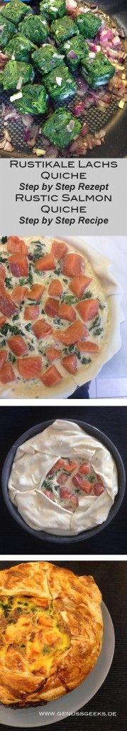 Yummy Lachs Quiche Rezept - Yummy Salmon Quiche Recipe