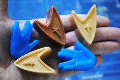 6 x Star Trek soap 3-Insignia and 3-Vulcan salute   by NerdySoap