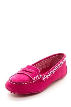 Baby shoes!  Oilily Embroidered Suede Loafer
