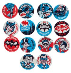 Batman pinbacks 1966