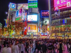 Shibuya Crossing - Tokyo. Busiest crossing in the world. It isn't an exaggeration.