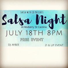 @salsawithjo has a free event tomorrow night @mulberrystreetcantina! Starts at 8pm sharp.  #salsadancing #bachatadancing #dentonslacker #dentoning #salsawithjo #denton #dentontx #dentoning #wddi #discoverdenton #dentonite #dentonlocal