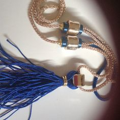 "DIY COLLANA CON NAPPA ""BLU TASSEL"" – CREATIVE IDEAS – NECKLACE"