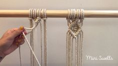 Macrame tutorial how to make a diamant shape 2019 A fun and easy pattern for any macramé project. For more inspiration or fiber art supplies check out our shop. The post Macrame tutorial how to make a diamant shape 2019 appeared first on Weaving ideas. Macrame Wall Hanging Diy, Macrame Curtain, Macrame Plant Hangers, Macrame Cord, How To Macrame, Micro Macrame, Rope Crafts, Macrame Design, Macrame Projects