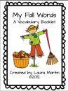 My Fall Words Vocabulary Booklet product from PeaceLoveandFirstGrade on TeachersNotebook.com