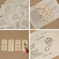 tag 独特の表情をしたキャラクターが描かれたヴィンテージの封筒。 中には4色のカラフルなタグが包まれて入っています。 裏は白紙なので、メッセージカードとしてプレゼントに添えても素敵ですよ。 紐が通せるので、ラッピングもしやすくなっております。