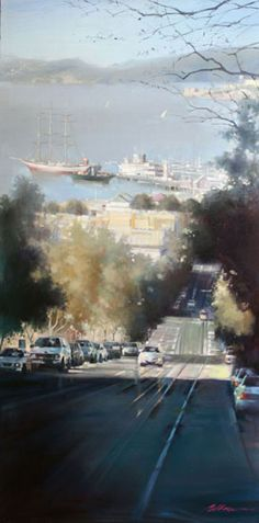 San Francisco Bay View painting by Jian Wu