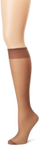 Hanes Too Day Sheer Knee Highs Reinforced Toe 3 Pairs
