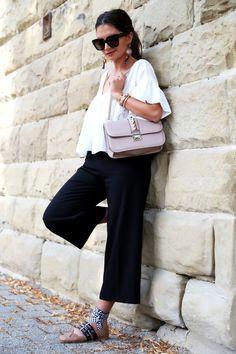 culotte:Edited// blouse: bought in Barcelona // bag:Valentino// ballerinas:Miu Miu(similar here/here) //sunglasses:Céline(also like this version)// earring: H&M (similar here) // bracelets:Tory Burch, Hermès (similar here) , Balenciaga ,Amber Sceats culotte: Edited // blouse: bought in Barcelona // bag:Valentino// ballerinas:Miu Miu(similar here/here) //sunglasses:Céline(also like this version)// earring: H&M (similar here) //bracelets:Tory Burch, Hermès (similar…