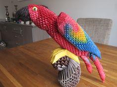 In dit filmpje laat ik zien hoe een 3d origami papegaai in elkaar gezet word.