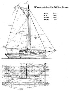 Sailboats Designed By William Gardner Small Yachts, Model Boat Plans, Wood Boat Plans, Naval, Rail Car, Old Boats, Boat Stuff, Boat Design, Modern Art Prints