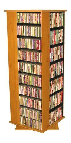 VHZ Entertainment 1600 CD Molded Multimedia Revolving Tower Media Storage Tower, Cd Storage, Dvd Cabinets, Dvd Rack, Cd Holder, Multimedia, Shelving, Bookcase, Entertaining