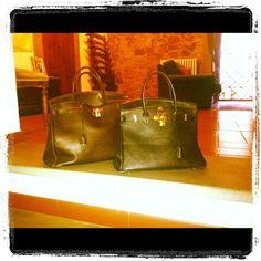 My beautiful Birkin bags...black and brown