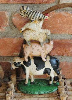 Vintage Cast Iron - Farm Animals - Door Stop
