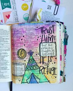 Bible Journaling by Trudy Barker @colorsoffaith