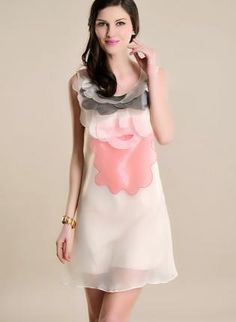 Petals  Lip Sleeveless Dress,  Dress, sleeveless dress  lip dress  petals dress, Chic
