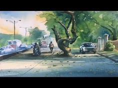 Process of watercolor painting step by step full length demonstration by Prashant Sarkar. You can watch and learn my technique of other art medium like Paste. Watercolor Landscape Paintings, Watercolor Print, Watercolor Paper, Persian Blue, T Art, Step By Step Painting, Watercolour Tutorials, Pastel Drawing, Medium Art