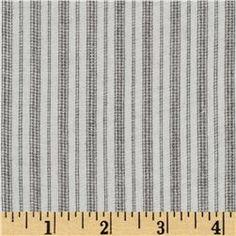 Fabric - Ranchero Rayon Shirting Stripes Cream/Natural $6.98 per Yard