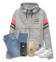 """""""heyy"""" by samanthars ❤ liked on Polyvore featuring Victoria's Secret, Converse and Kate Spade"""