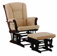 Stork Craft Tuscany Glider and Ottoman, Cherry/Beige