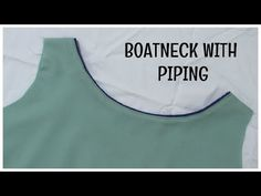 Make this elegant boatneck with piping for you kurti, dress or blouse. In this video learn this easy tutorial. Chudi Neck Designs, Neck Designs For Suits, Dress Neck Designs, Designs For Dresses, Blouse Neck Designs, Piping Tutorial, Dress Sewing Patterns, Sewing Ideas, Gala Design