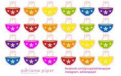 Soup Bowl Stickers for Erin Condren Life Planner, Plum Paper Planner, Filofax, Kikki K, Calendar or Scrapbook FD- by adrianapiper on Etsy