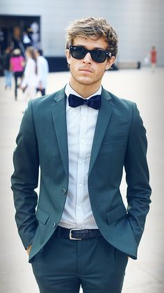 A bow tie gets me.