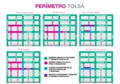 Cortes viales en el perímetro de Plaza Tolsá.