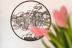 Papurino | home decor | wooden city map | Finnish design | interior design | Scandinavian design | Spring | Tampere | Finland