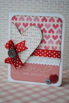 Love You Dearly, card by livvysmom