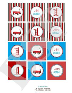 cupcake topper printables little red wagon