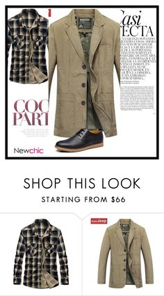 """""""1. newchic"""" by narcisa-huskic ❤ liked on Polyvore featuring Whiteley, men's fashion, menswear, chic, New and newchic"""