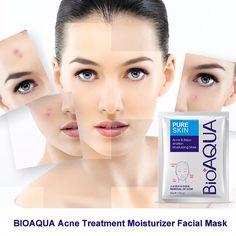 BIOAQUA Acne Treatment Facial Mask Effective Removal Acne Face Mask Moisture Nourishing Oil Control Mask Sheet For Man/Woman