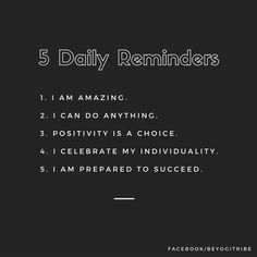 Remind yourself of these 5 things daily to help yourself handle whatever life throws at you this week.