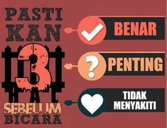 Pastikan 3 hal sebelum bicara.. kalo tdk lebh bae diam :) Self Reminder, Islamic Quotes, Company Logo, Bae, Instagram