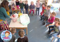 Baby in bad in de klas 2, kleuteridee.nl, thema baby voor kleuters