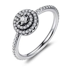 Diplomatic Silver 925 Ring Cz Size P Bright In Colour Other Fine Rings
