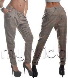 Pantaloni donna cavallo basso harem pantalone vita bassa
