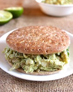 One serving of this avocado Greek yogurt chicken salad has 26 grams of protein with only 200 calories. On a piece of whole-grain bread or a sandwich...