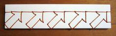 Japanese stab binding downward facing arrows by beccamakingfaces Handmade Journals, Handmade Books, Japanese Stab Binding, Making Faces, Book Binding, Book Making, Letterpress, Book Art, Paper Crafts
