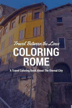 Travel Between the Lines Coloring Rome: An Adult Coloring Book for Globetrotters and Daydreamers is a 38-illustration adult coloring book showcasing the magical, bewildering and colorful city of Rome. Created as a collaboration between world travelers Geoff and Katie Matthews and Context Travel, the book includes hand-drawn line tracings of Geoff and Katie's photos, taken whilst exploring Rome with @contexttravel #deeptravel