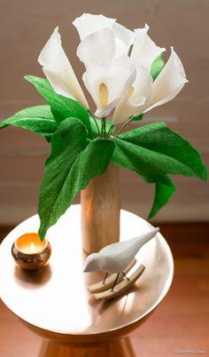 Crepe Paper Calla Lilies