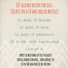 Essential oil blend for allergie