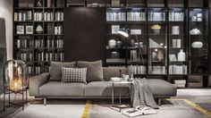 Comfy Apartment Living Room Designs Ideas Trends 2018 - Page 8 of 44 Living Room Trends, Living Room Designs, Home Decor Bedroom, Living Room Decor, Living Rooms, Muebles Home, Bedroom Minimalist, Fabric Sofa, Home Decor Styles
